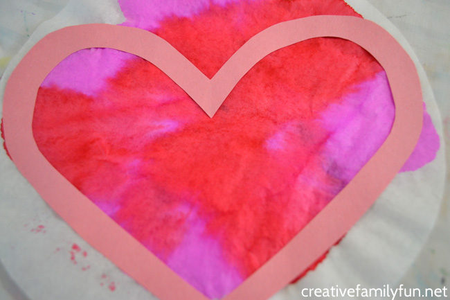 coffee filter valentine heart suncatcher creative family fun