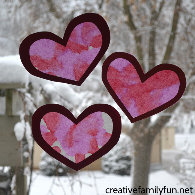 Make one Coffee Filter Valentine Heart Suncatcher or several to decorate your windows this Valentine's Day. This fun kid's craft uses simple supplies and is easy to make.