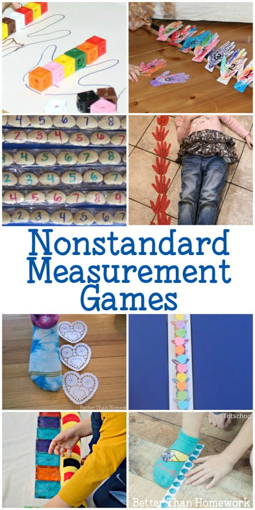 Explore measurement with these fun Nonstandard Measurement Games for kids. These hands-on math activities with make learning fun for your elementary kids.