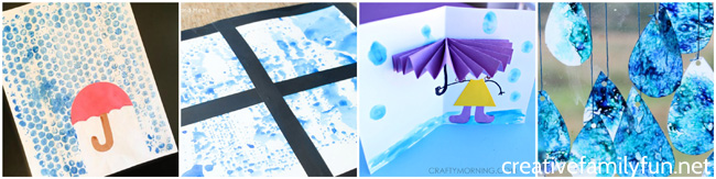 Create Some Fun Weather Crafts With This Selection Of Rain And Raindrop For Kids