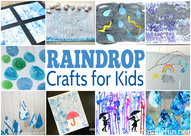 Create some fun weather crafts with this selection of rain and raindrop crafts for kids. They're all easy to make and fun for kids of all ages.