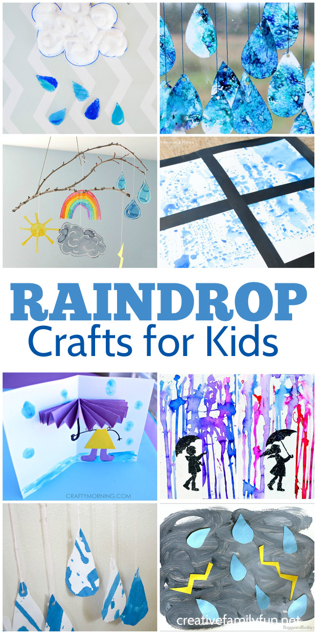 Rain and Raindrop Crafts for Kids