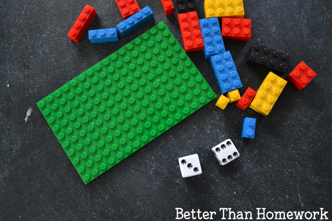 Word on your math skills with this fun LEGO Addition game. Throw dice and fill your LEGO Base Plate with this fun math game that's easy to play and much better than homework.