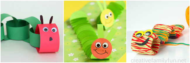 Get out your crafting supplies to make some of these fun and very cute Caterpillar Crafts for Kids. You'll find great ideas for kids of all ages.