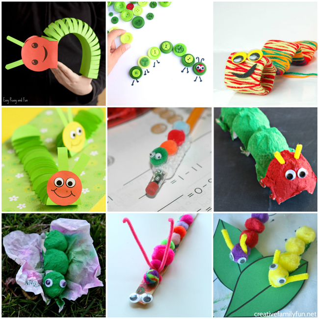 Get Out Your Crafting Supplies To Make Some Of These Fun And Very Cute Caterpillar Crafts