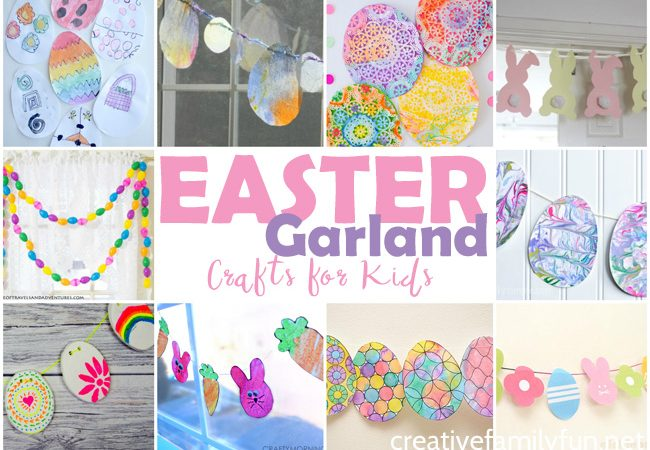 Pretty Easter Garland Crafts for Kids