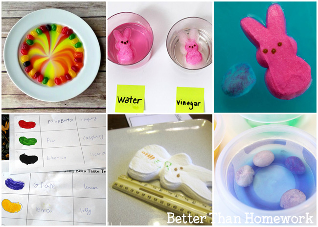 Have fun learning with these Easter Science Activities for Kids. Experiment with Easter candy, eggs, and even learning in the garden. These science experiments are fun, simple, and great to do at home.