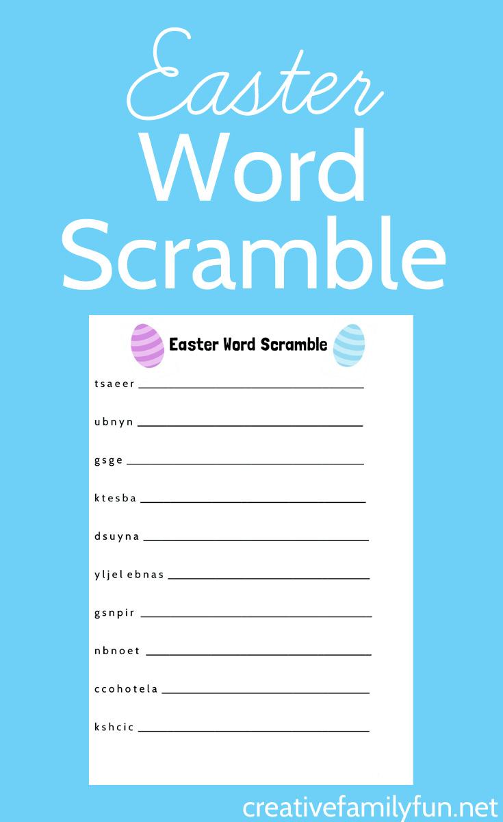 Easter Word Scramble Printable - Creative Family Fun