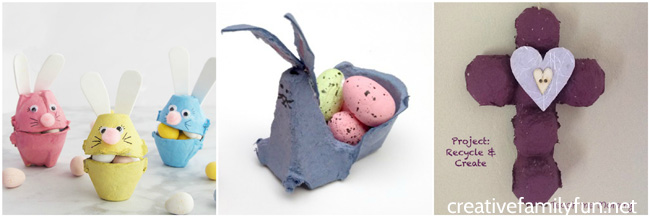 What do you do with all those extra egg cartons? You can make some of these fun Egg Carton Easter Crafts. Choose from bunnies, baskets, chicks, and more.