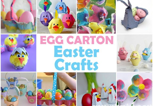 Egg Carton Easter Crafts for Kids