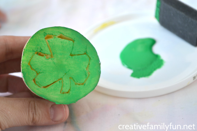 Shamrock Potato Prints Printmaking Project