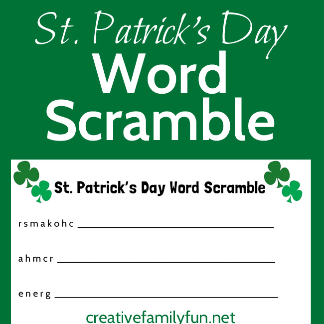 Can you unscramble all the words on this St. Patrick's Day word scramble printable for kids? This easy word scramble is perfect for quiet time or on-the-go fun. So, grab this free printable and have some fun.