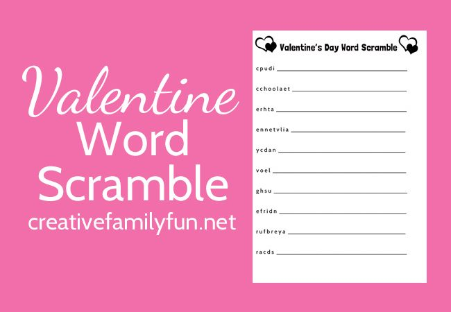 Can you unscramble all the words on this Valentine's Day word scramble printable for kids? This easy word scramble is perfect for quiet time or on-the-go fun. Grab this free printable and have some fun.