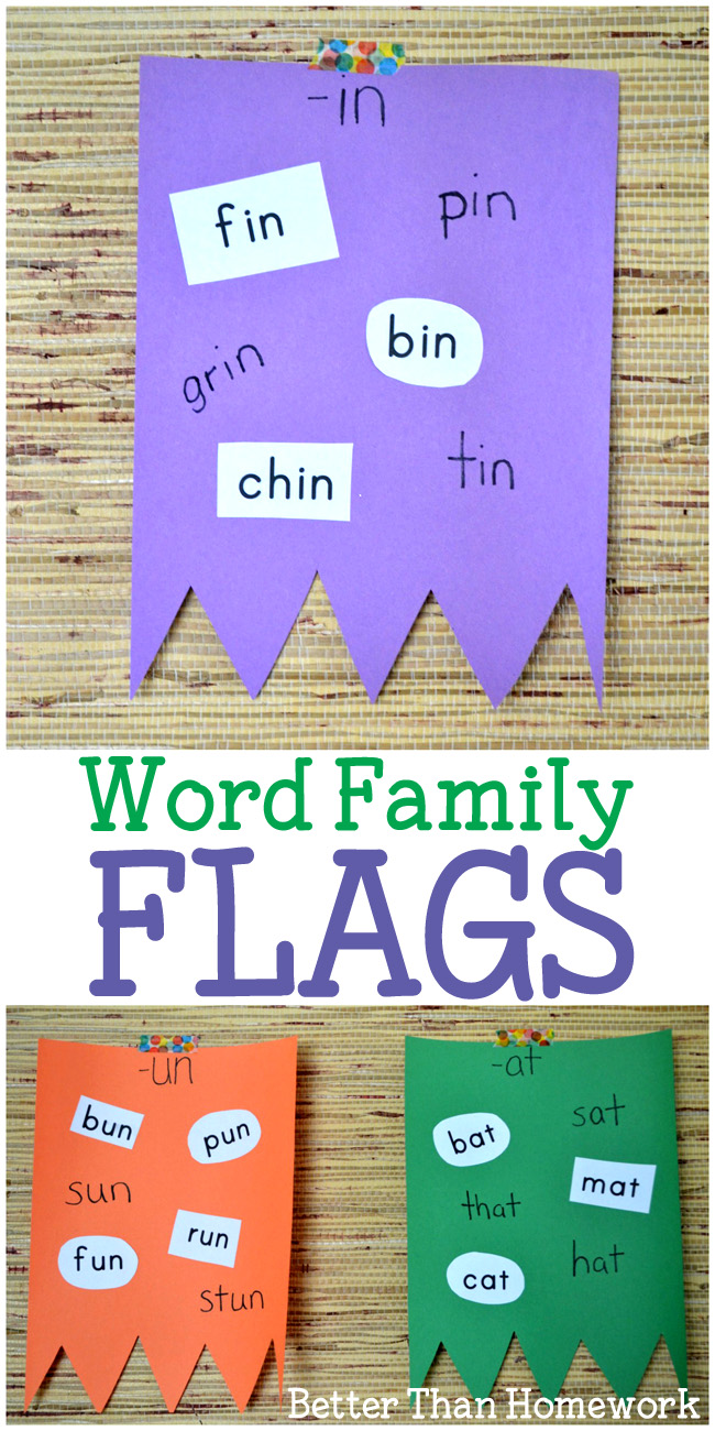 Word Family Flags Activity - Creative Family Fun
