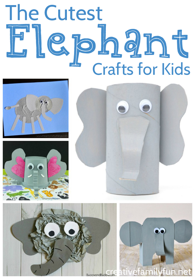 Your animal loving kids will love this fun collection of elephant crafts! You'll have so much fun creating these awesome craft ideas.