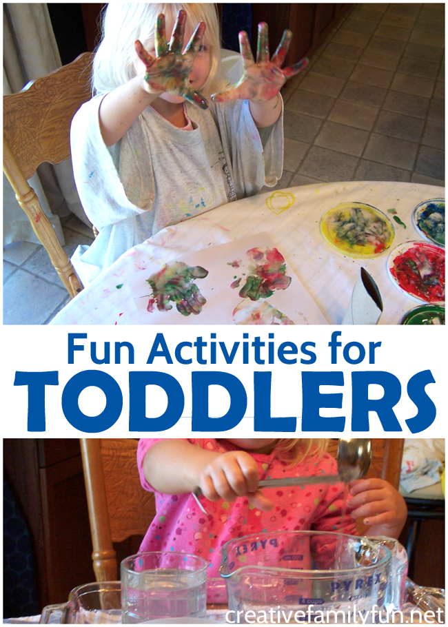 Have fun with your little one with these fun activities for toddlers. You'll find crafts, sensory play, outdoor play, holiday fun, and lots of great toddler play ideas.