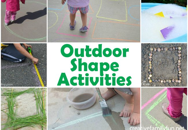 Outdoor Shape Activities for Kids