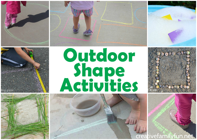 Outdoor Shape Activities For Kids Creative Family Fun
