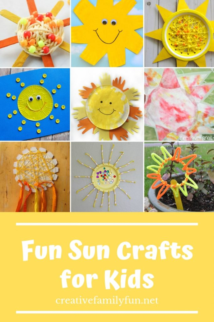 Awesome Sun Crafts For Kids Creative Family Fun