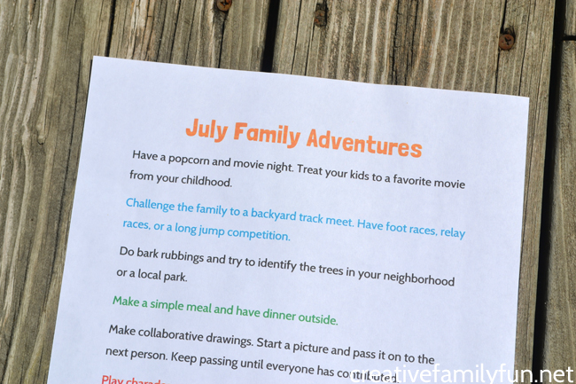 Have some adventures with your family when you try one of these great July Simple Family Fun Ideas. The ideas are frugal, easy, and so much fun!