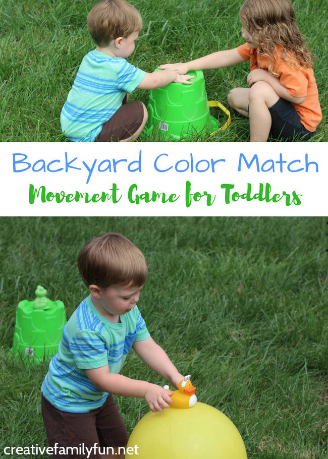 Get your little ones moving with this fun Backyard Color Match Game for Toddlers. They'll run, have fun, and learn a lot!
