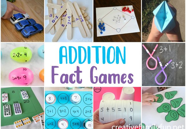 Get your kids excited about learning with one of these fun and easy-to-prep DIY Addition Fact Games for kids. Learning can be so much fun.