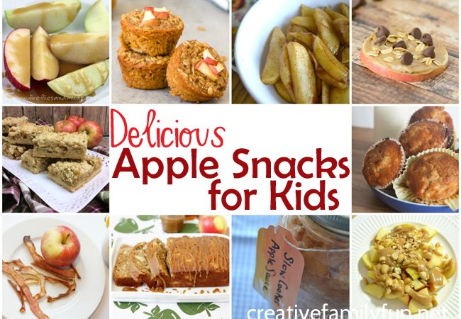These simple and delicious apple snacks for kids are perfect for after school or between meals. Your kids will love them!