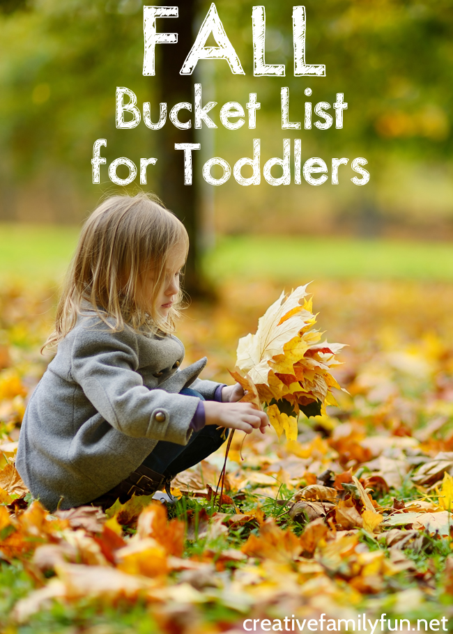 Get ready to have some simple family fun this autumn with this Fall Bucket List for Toddlers. The activities are simple and so much fun.
