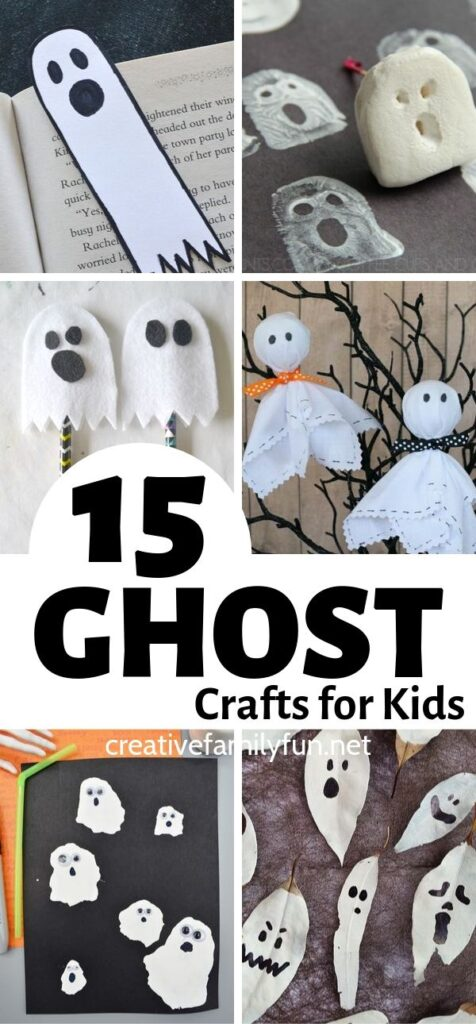 Have some fun this Halloween when you make these cute and friendly ghost crafts for kids. They're perfect for kids of all ages!