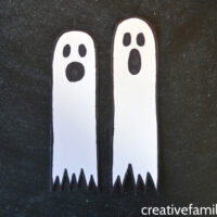 Ghost Bookmark Halloween Craft