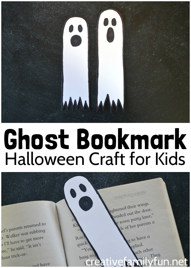 Mark your place in your favorite book with this simple Ghost Bookmark Halloween craft for kids. All it takes is a few simple supplies.
