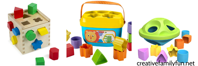 Help your toddler learn while playing with one of these fun shape toys for toddlers. These puzzles and toys are all so much fun to play with.
