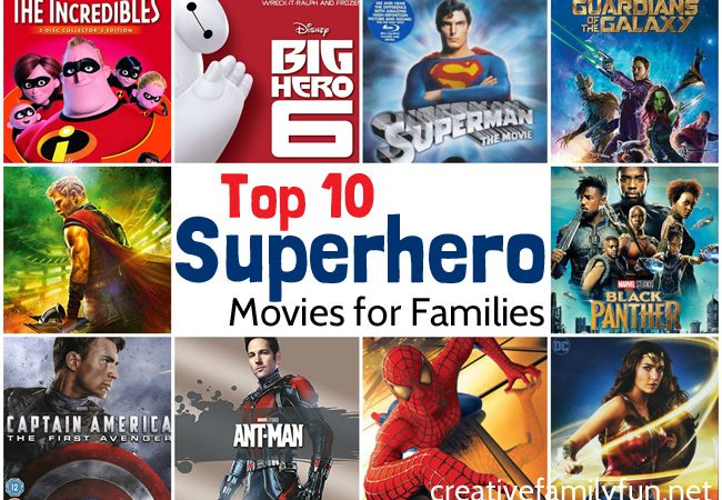 Top 10 Superhero Movies for Families