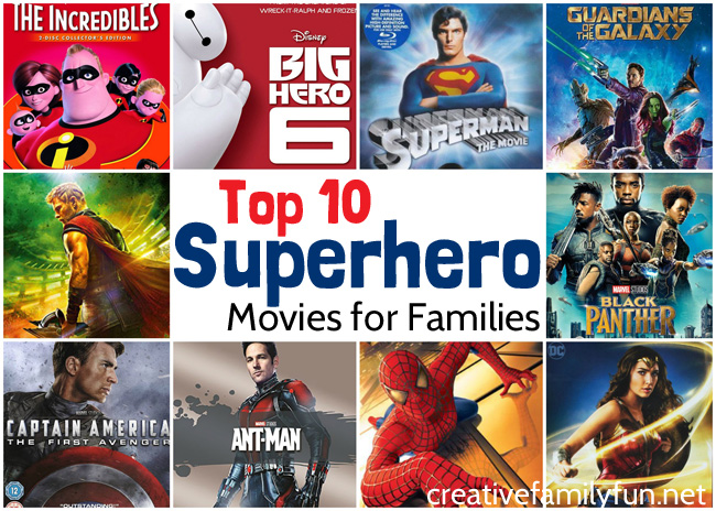 Get ready for a fun and exciting family movie night with one of these fantastic Top 10 Superhero Movies for families that everyone will love.