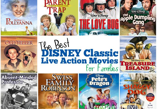 Sometimes old movies are the best for family movie night. These top 10 Disney Classic Live Action Movies for families are great kid-friendly choices.