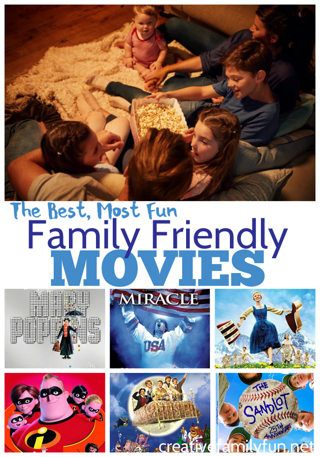 What are you going to watch for your next family movie night? Here are the best choices for fun family friendly movies to watch.