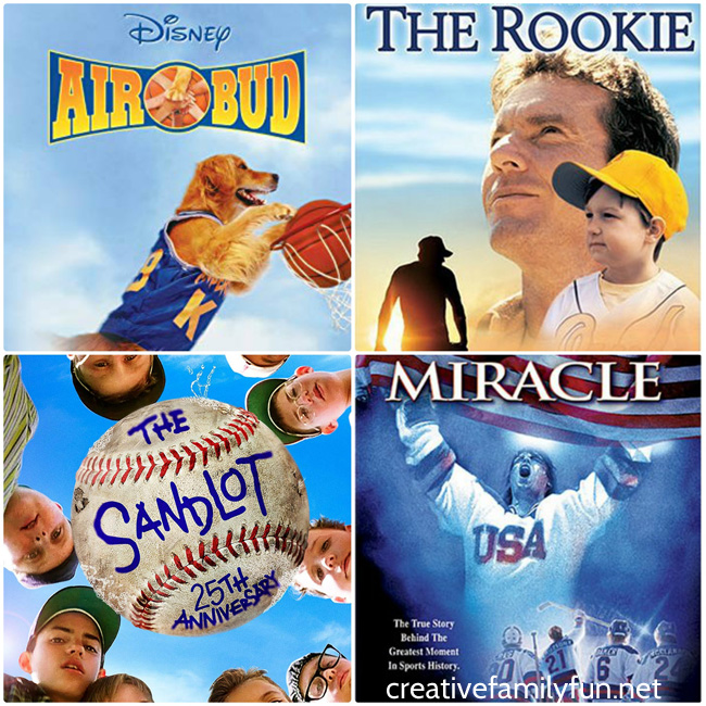 Settle in for a fun family movie night with your kids to watch one of these awesome choices from the Top 10 Sports Movies for families.