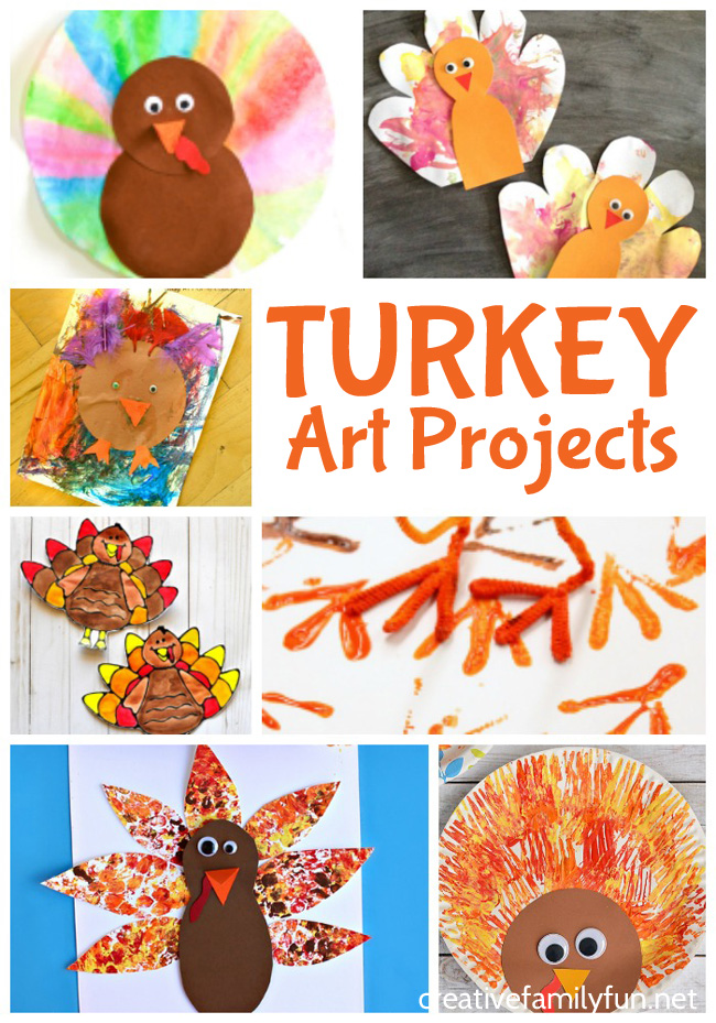 Have some Thanksgiving fun when you try one of these turkey art projects for kids. Get creative with these fun Thanksgiving arts and crafts.