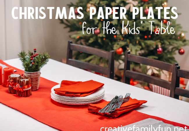 Make your life easier this holiday season when you set a festive table with these adorable and fun Christmas paper plates for the kids' table.