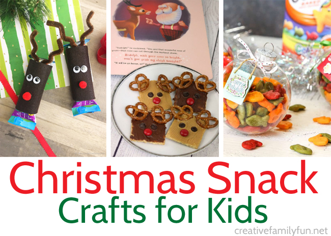 Let the kids get creative in the kitchen this holiday season with these fun Christmas snack crafts that that can make themselves.