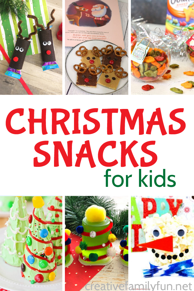 Fun Christmas Snack Crafts For Kids Creative Family Fun