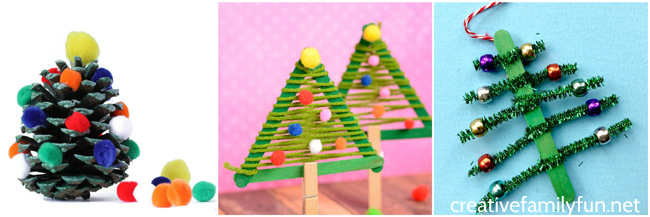 Get into the holiday spirit while creating with your kids when you make these fun and pretty Christmas tree crafts for kids.