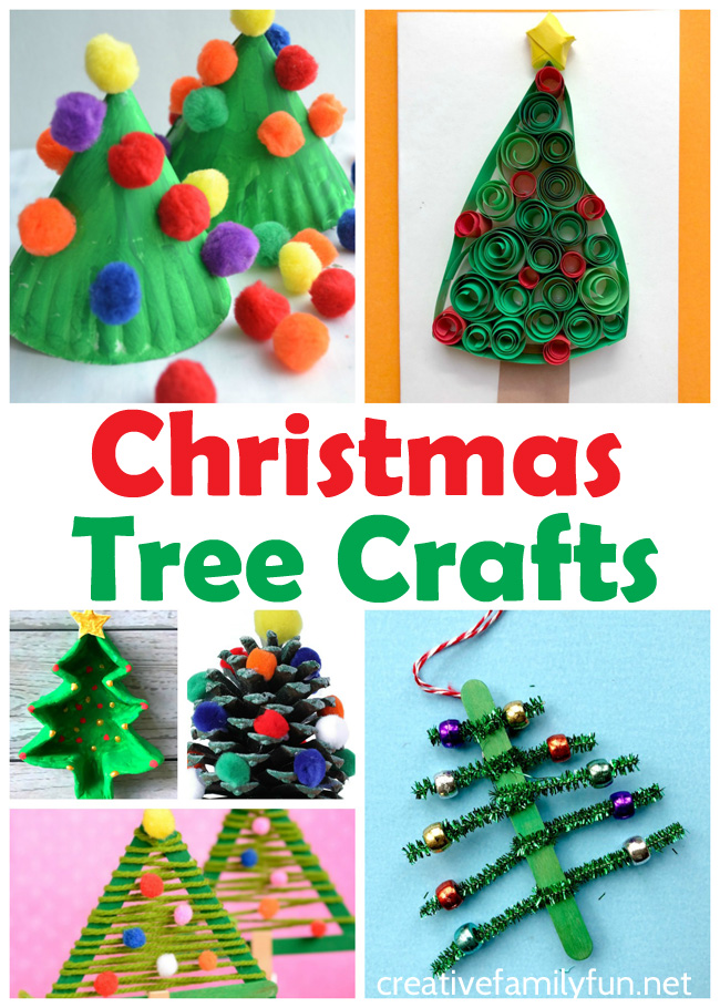 Christmas Tree Crafts For Kids Creative Family Fun