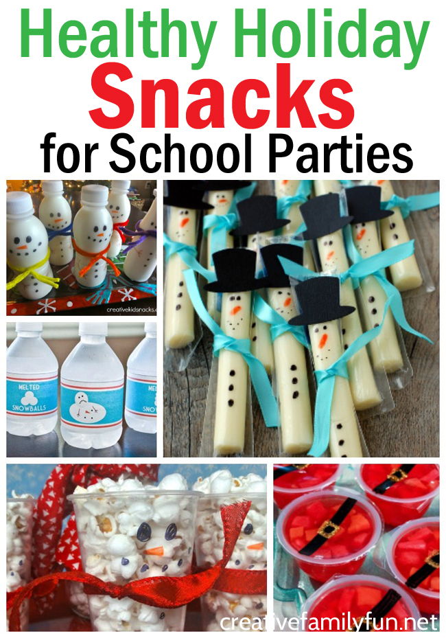 These fun and healthy Christmas treats for school are all made from store-bought treats and are perfect for classroom parties.
