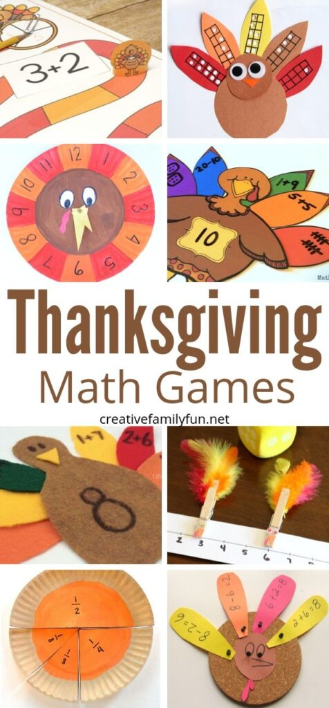 Fun Thanksgiving Math Games for Kids