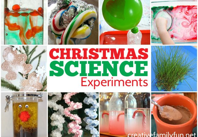 Learn and have fun this holiday season with these fun Christmas science experiments for kids. Try new ideas or fun twists on classic experiments.