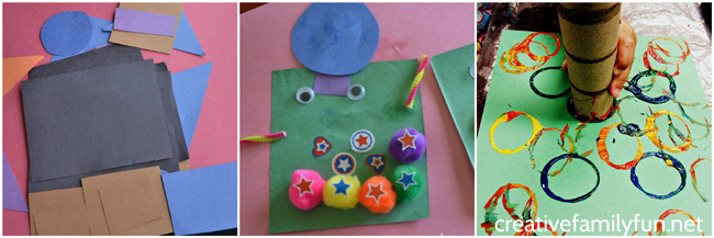 Simple And Fun Shape Crafts For Toddlers Creative Family Fun