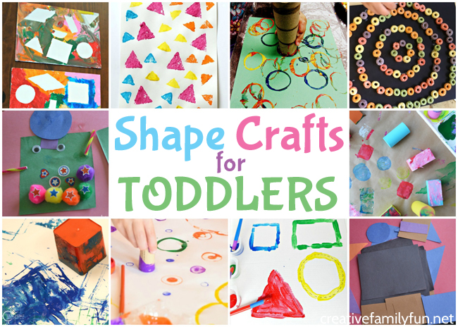 Learn all about shapes with these fun and easy shape crafts for toddlers. Have fun creating and learning about circles, squares, and triangles.