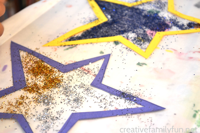 Make a Stained Glass Star Suncatcher to decorate your windows for Christmas or any time of the year. This easy craft is perfect for kids of all ages.