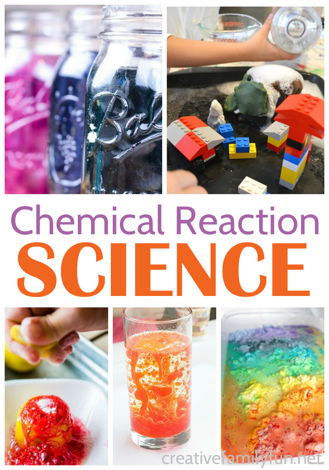 Have fun learning with this fun selection of chemical reaction science experiments for kids that are safe, exciting, and fun.